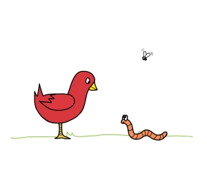 cardinal_and_wormie